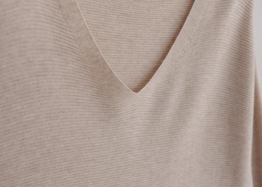 V Neck Knitted Shift Dress-Holiholic