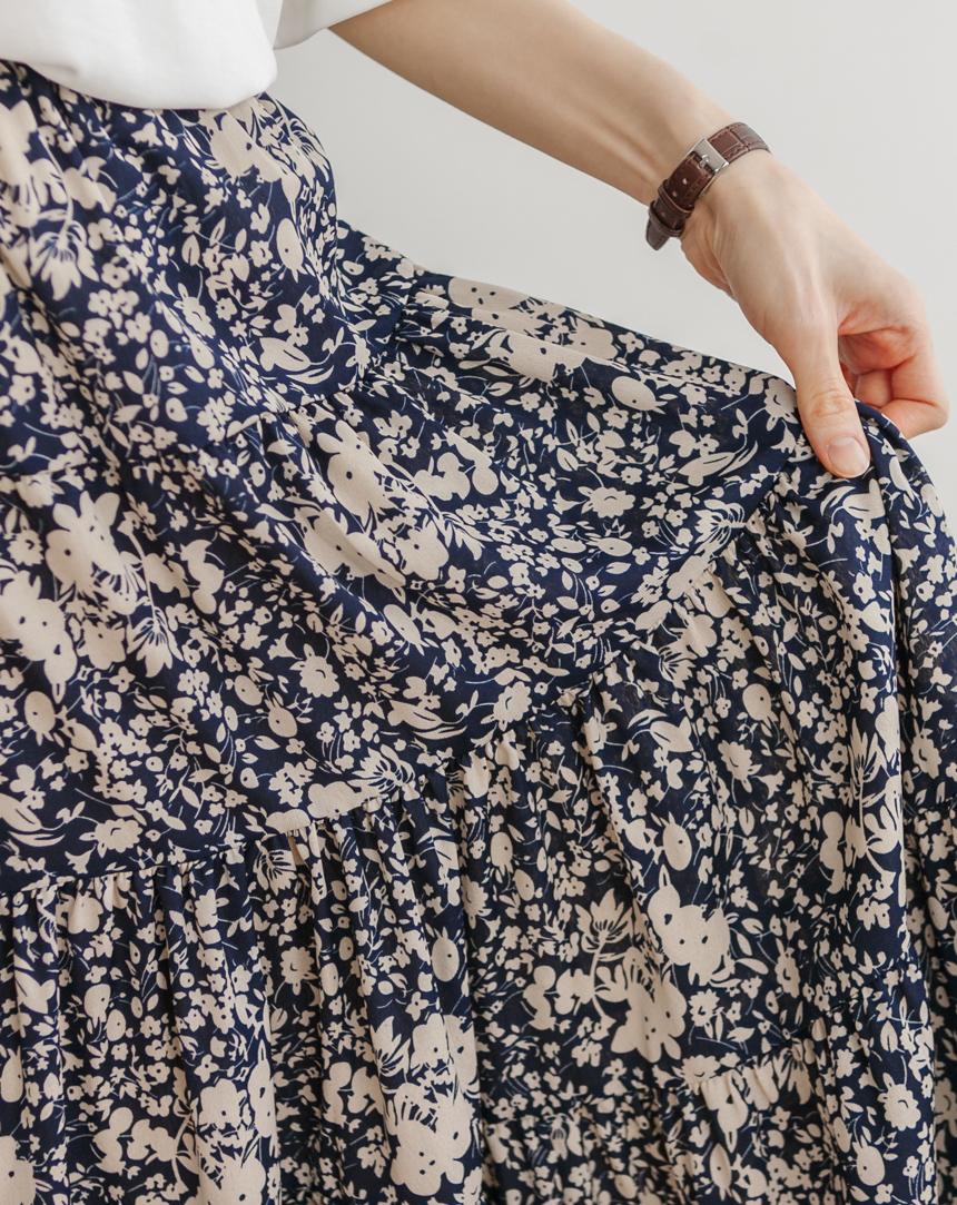 Flower Garden Flare Skirt-Holiholic